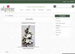 alpine floral and gift ecommerce website