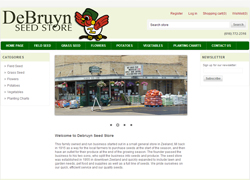 debruyn seed ecommerce website
