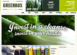 greenbox juice ecommerce website