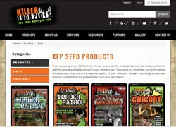 killer food plots ecommerce website