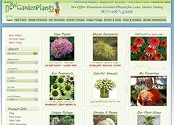 new garden plants ecommerce website