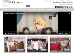 pillows by dezign ecommerce website